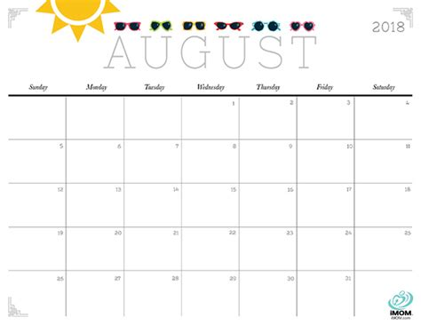 printable calendar imom 2018 cute and crafty 2018 calendar imom