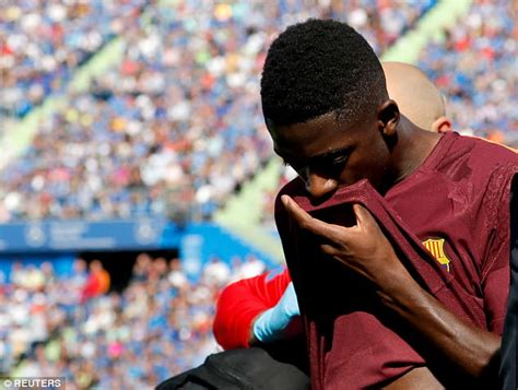 ousmane dembele injury report barcelona s ousmane dembele may have kept injury quiet