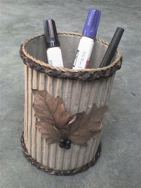 kerajinan membuat wadah pensil kerajinan dari pelepah pisang yang mudah dibuat