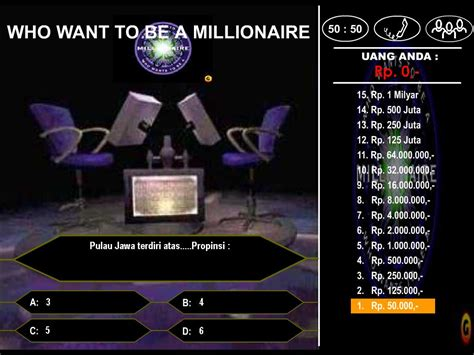 who wants to be a millionaire powerpoint template who wants to be a millionaire template ppt