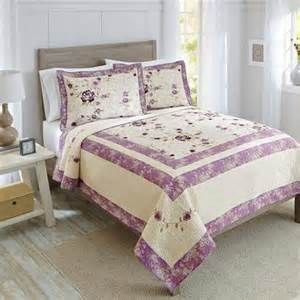 better homes and gardens purple blossom quilt collection