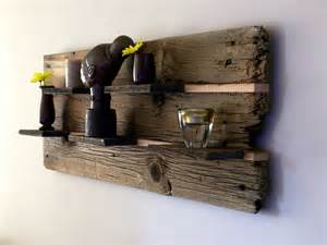 reclaimed barn wood shelves rustic reclaimed barn wood wall shelf by thebarnyardshop