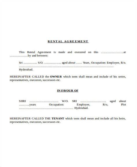 sle term rental agreement 6 simple rental agreement form 28 images printable sle