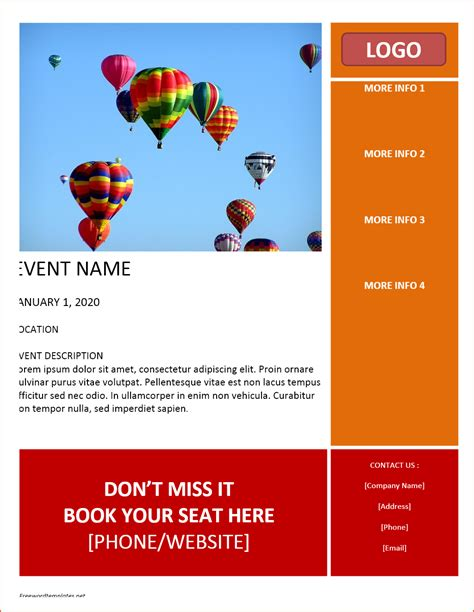 8 Free Word Flyer Templates Bookletemplate Org Print Ad Templates For Word