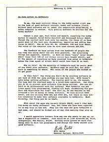 open letter wikipedia