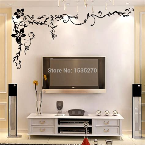 vintage style wall stickers flower in modern living room online buy wholesale modern art backgrounds from china