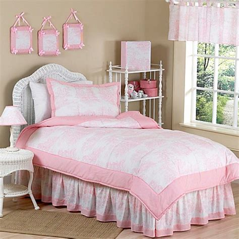 pink toile bedding sweet jojo designs toile bedding collection in pink bed