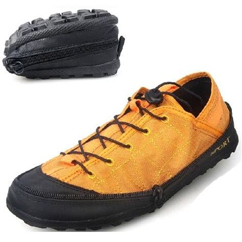 portable flat shoes portable travel mens foldable wear resistant shock