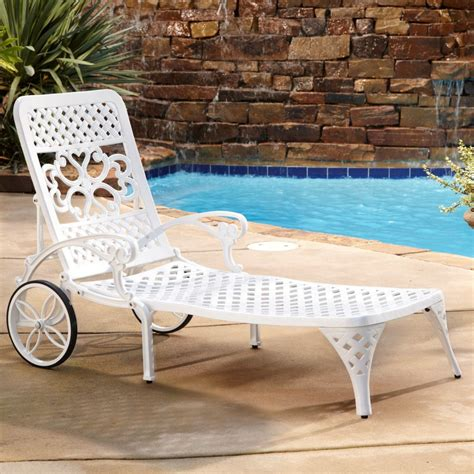 outdoor chaises home styles biscayne outdoor chaise lounge chair with wheels
