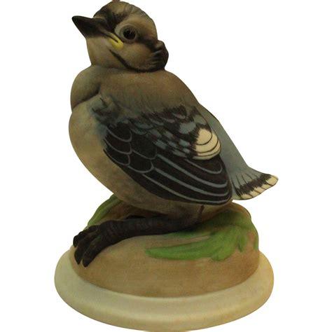 bird figures boehm baby blue jay 436 vintage porcelain bird figurine
