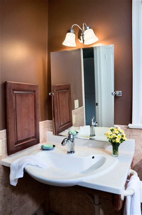 craft wheelchair accessible bathroom vanity