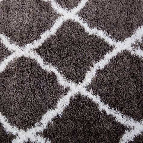 Rugs Area Shag Rug Modern Moroccan Trellis Lattice Floor Shaggy Area Rugs