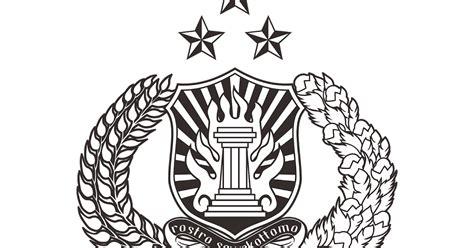 vector logo polri hitam putih cdr png hd