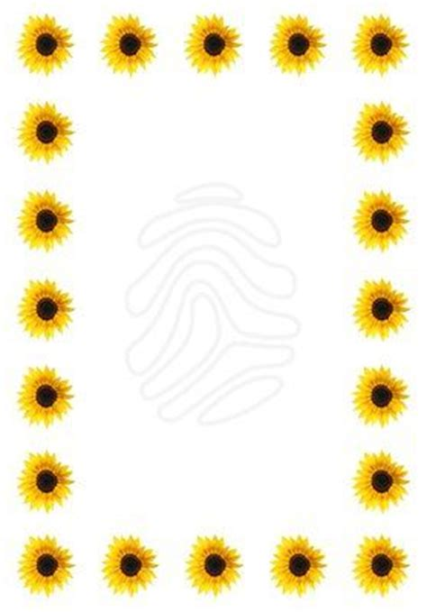 free sunflower page borders for word google search page borders pinterest sun words and