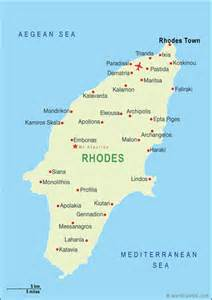 Rhodes Greece Map by Word Travels Travel Guide Destination Guides For The