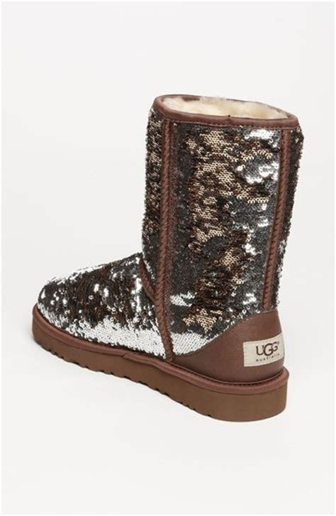sparkle boots ugg classic sparkle boot in brown leopard lyst