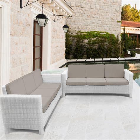 set divani rattan salotto rattan set giardino esterno divano arredo poly