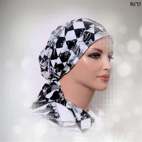 fitted scarf sinar style stripes floral modest