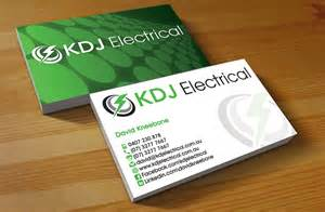 electrician business cards business card design design for kdj electrical a company