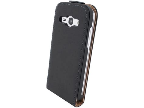Flipcover Wallet Samsung Ace 3 mobiparts premium echt leren flip voor samsung galaxy ace 3