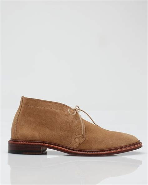 alden mens shoes alden unlined chukka boot in brown for lyst