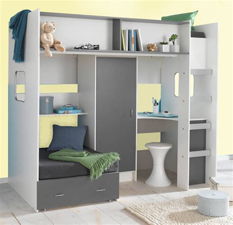 High Bed With Wardrobe And Desk by Childrens And Teenagers High Sleeper Bed With Futon Style