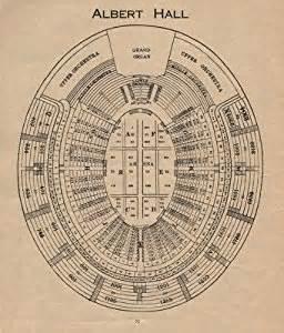 royal albert floor plan royal albert hall vintage seating plan london concert hall old print 1936 amazon co uk