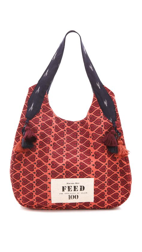 rachel roy limited edition feed india tote bag  red lyst
