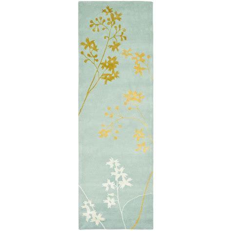 Cotton Light Lu Hias Aqua White Yellow safavieh soho light blue multi 2 ft 6 in x 14 ft runner soh316c 214 the home depot