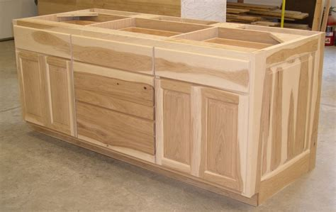 kitchen island base cabinet hickory cabinets