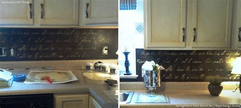 kitchen stencil ideas 6 trendy wall decorating ideas with lettering stencils