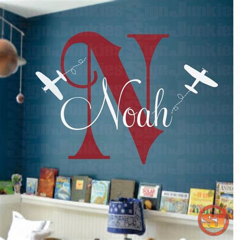 Airplane Wall Decals For Nursery 1000 Ideas About Monogram Wall Letters On Pinterest Monogram Wall Wall Lettering And Rooms