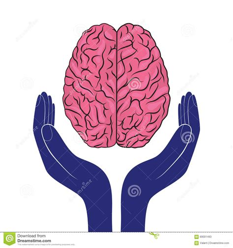 imagenes mental health mental health sign vector human brain as concept stock