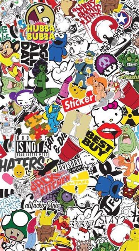 graffiti wallpaper stickers 10 best sticker bombs images on pinterest sticker bomb