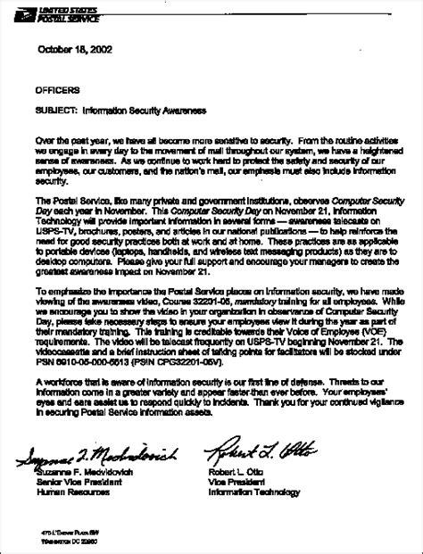 Offer Letter Usps administrative services