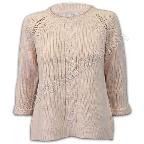 knitted womens jumpers jumper womens knitted cable jacquard top sweater