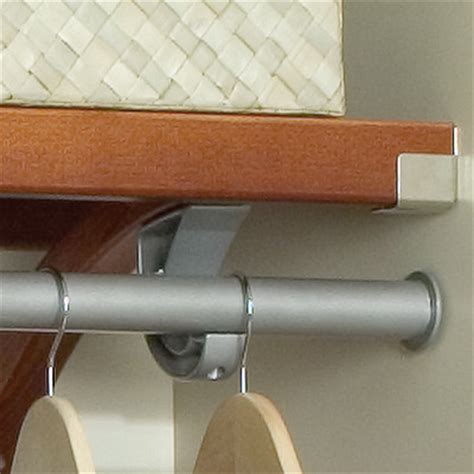 Wall Shelf With Clothes Rod by Louis Home Jlh 529 Premier 12 Inch Closet Shelving System Mahogany