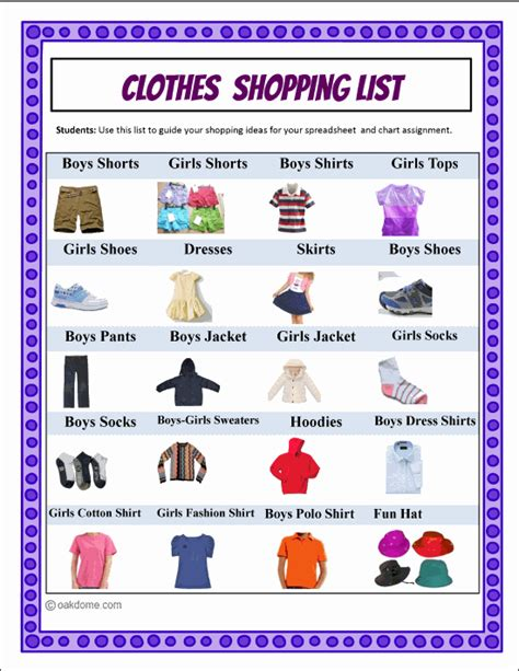 shopping for sheets google classroom clothes shopping spreadsheet budget