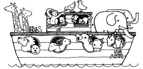 what color was noah noah and the ark coloring pages