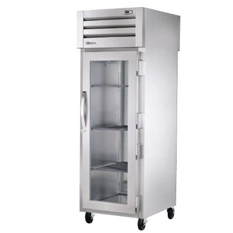 refrigerator with glass front door true str1rpt 1g 1s specification series one section pass