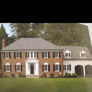 colonial brick homes dream house colonial brick dream house pinterest