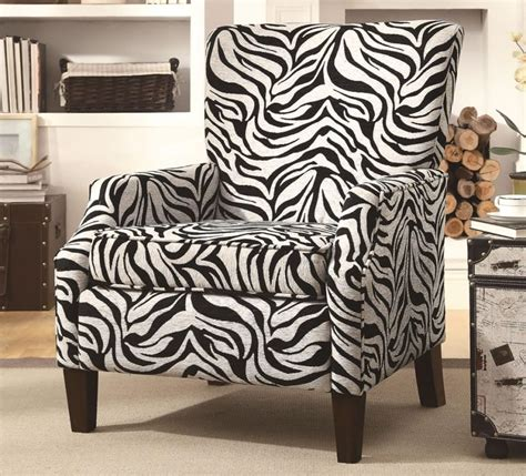 zebra print armchair brown zebra print accent chair 4d concepts versize