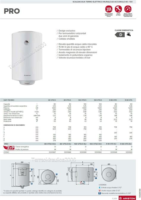 Water Heater Ariston Ti Pro 30 ariston boiler 50 liter