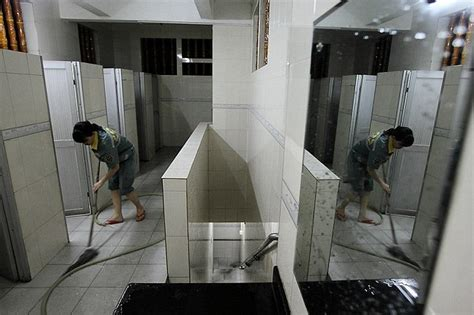 chinese family in our bathroom chinese family take jobs as public toilet cleaners but