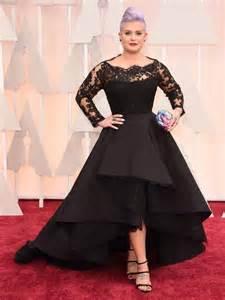 2015 oscar kelly osbourne celebrity evening dresses sheer long sleeve