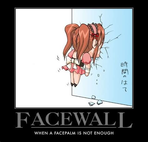Extreme Facepalm Meme - image face wall jpg glee wiki