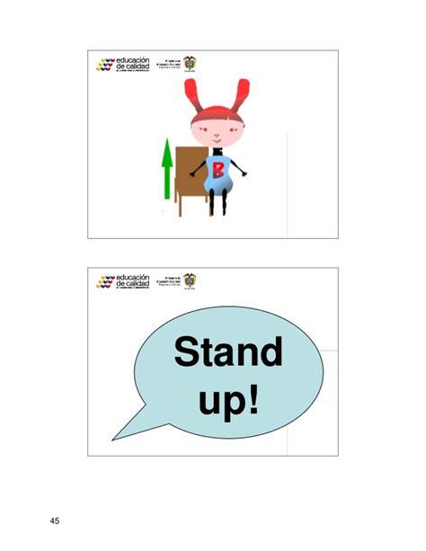 imagenes en ingles stand up cartilla talleres socializacion bunny bonita