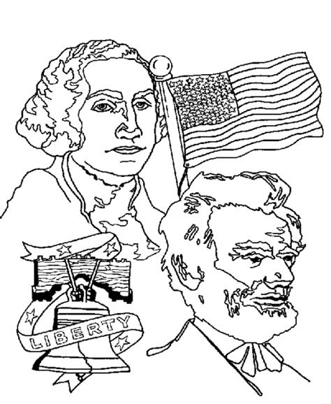 presidents day coloring pages kids world