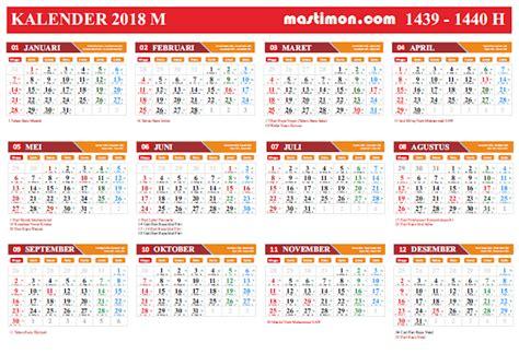 Kalender Dinding Besar Warna 2017 gratis kalender 2018 vektor lengkap tanggal
