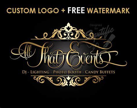 free elegant logo design custom events planning logo free watermark free psd source